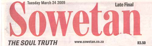 Sowetan march 09 1a